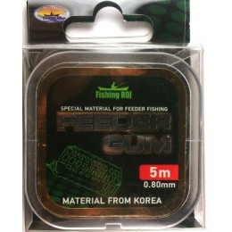 Резина Feeder Gum Fishing Roi 0.8мм   5м прозрачная(323309)