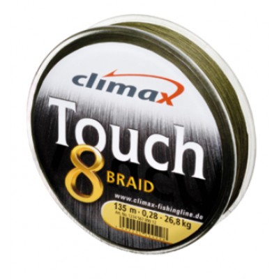 Шнур CLIMAX TOUCH 8 BRAID 135м зеленый