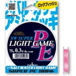 Шнур Yamatoyo PE Light Game Flash Pink 75м. (1110069-0)