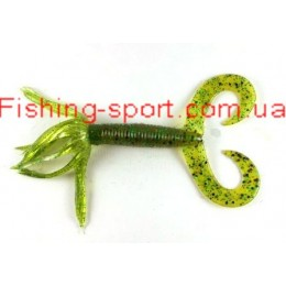 "Силикон  Yum Gonzo Grub 4"" цвет Pumpkin Pepper green YGG-411  1шт(321368)"